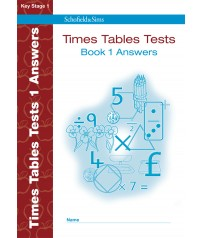Times Tables Tests Answers Book 1 (Key Stage 1)